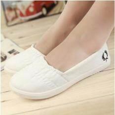 ซื้อ Sabai รองเท้าผ้าใบแฟชั่นผู้หญิงแบบสวม รุ่น B1066 สีขาว Unbranded Generic ออนไลน์