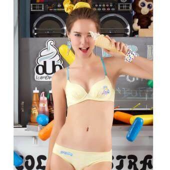 Sabina เซตชุดชั้นใน Pretty Republic รุ่น M Let's PLAY#2 รหัส SBU393+SUU393 สีเหลือง