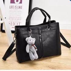 ราคา Saiitong Shop กระเป๋าหนังเกรดพรีเมี่ยม แถมฟรีหมีน้อยน่ารัก Bag0001 ใหม่