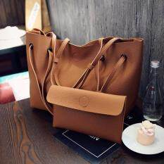ราคา Saki เซ็ตกระเป๋าสะพายข้าง กระเป๋าสะพายใบใหญ่ กระเป๋าถือใบเล็ก 1 สีน้ำตาล ใหม่