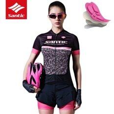 ส่วนลด Santic Women Cycling Jersey And Cycling Shorts Set Quick Dry Breathable Cycling Clothing Short Sleeve Cycling Suit Summer Ciclismo Intl Santic ใน จีน