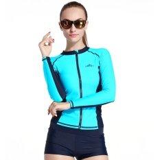 ความคิดเห็น Sbart ที่ใช้งานซิปผู้หญิง ผู้ชายดำน้ำเสื้อสูทชุดว่ายน้ำเสื้อแขนยาวท่องผื่นยาม Swimwears นานาชาติ