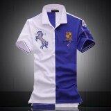 ขาย Sdp Embroidered Horse Logo Brand Militare Men Polo Shirts Air Force One Short Sleeve Polos Male Top Tee Men Brand Clothing Blue Intl ใหม่