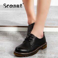 ราคา Seanut Artistic Retro Colored Martin Shoes Low Shoes Casual Shoes Black Intl เป็นต้นฉบับ Seanut