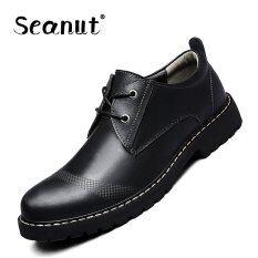 ขาย Seanut Men S Genuine Leather Low To Help Casual Shoes Formal Shoes Black ถูก