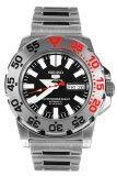 ส่วนลด สินค้า Seiko 5 Mini Monster นาฬิกาข้อมือผู้ชาย สีเงิน สายสแตนเลส รุ่น Snzf47K