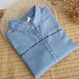 ราคา เสื้อปักญี่ปุ่นเสื้อยีนส์วินเทจ สีฟ้า Series เป็นต้นฉบับ Unbranded Generic