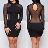 ส่วนลด สินค้า S*Xy Women S Bandage Bodycon Sleeveless Evening Party Cocktail Short Mini Dress Black Intl