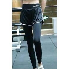 ราคา Sexysport กางเกงออกกำลังกายขายาว 2 ชั้น สีดำ ขาว ออนไลน์