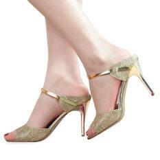 Shallow Fish Mouth Women Sandals(Golden) Intl จีน
