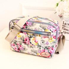 ขาย กระเป๋าสะพายผ้าใบ สำหรับผู้หญิง มีหลายช่อง สีเบจ ใหม่ สีเบจ ใหม่ ใหม่