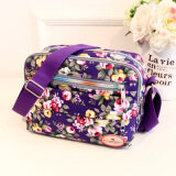 ส่วนลด กระเป๋าสะพายผ้าใบ สำหรับผู้หญิง มีหลายช่อง สีม่วง ใหม่ สีม่วง ใหม่ Other