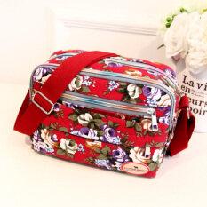ส่วนลด สินค้า กระเป๋าสะพายผ้าใบ สำหรับผู้หญิง มีหลายช่อง สีแดง ใหม่ สีแดง ใหม่