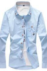 ขาย เสื้อแฟชั่นฤดูใบไม้ผลิและฤดูใบไม้ร่วงเสื้อบุคลิกภาพชาย เห็ดแขนยาวสีฟ้าอ่อน Other