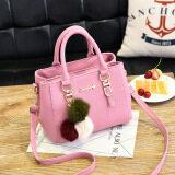 ซื้อ กระเป๋าถือสำหรับผู้หญิง กระเป๋าแฟชั่นสไตล์เกาหลี สีชมพูอ่อน สีชมพูอ่อน ถูก