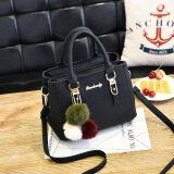 ส่วนลด กระเป๋าถือสำหรับผู้หญิง กระเป๋าแฟชั่นสไตล์เกาหลี สีดำ สีดำ