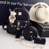 ราคา Ka Ku Yi เซ็ตกระเป๋าสะพาย แบบลำรอง สไตล์ผู้หญิงญี่ปุ่น เกาหลี สีดำ สีดำ Unbranded Generic