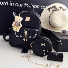 ขาย Ka Ku Yi เซ็ตกระเป๋าสะพาย แบบลำรอง สไตล์ผู้หญิงญี่ปุ่น เกาหลี สีดำ สีดำ Unbranded Generic เป็นต้นฉบับ