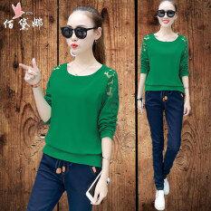 ขาย เสื้อเกาหลีเสื้อยืดหญิงบาง สีเขียวอ่อน ฮ่องกง ถูก