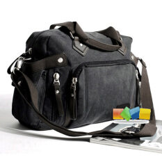ขาย สบายๆกระเป๋าแฟชั่นผ้าใบกระเป๋า สีเทาและสีดำ Other เป็นต้นฉบับ