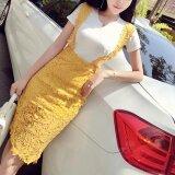 ชุดเดรสแฟชั่นฤดูร้อนหญิงใหม่ สีเหลือง ใหม่ล่าสุด