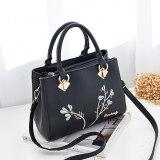 ราคา กระเป๋าสะพายไหล่เดี่ยวผู้หญิงMuqin ไซส์ใหญ่สไตล์เกาหลี สีดำ สีดำ ออนไลน์