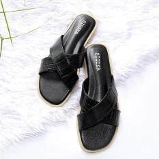 โปรโมชั่น รองเท้าแตะ Shoes By Naris รุ่นหนังจระเข้เงา สีดำ กรุงเทพมหานคร