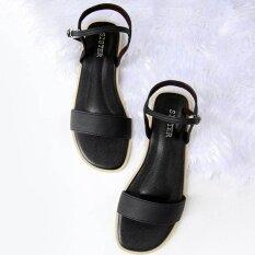 ราคา ราคาถูกที่สุด รองเท้าสไตล์มินิมอลShoes By Naris แผ่นตรง พร้อมสายหลัง สีดำ
