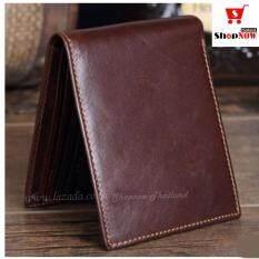 ขาย ลดจัดหนัก 80 Shopnow กระเป๋าสตางค์ผู้ชายหนังวัวแท้ 100 กระเป๋าตังค์ผู้ชาย กระเป๋าเงินผู้ชาย กระเป๋าสตางค์ กระเป๋าตัง กระเป๋านามบัตร สีน้ำตาล Wallet Brown ถูก