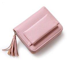 Short Purse G*rl 2017 Cute Buckle Small Fresh Tassels Wallet Purse Pink Intl ใน จีน