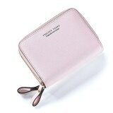 ขาย Short Wallet 2017 New Woman Short Wallet Korean Fashion Multi Double Zipper Wallet Card Pink Intl ถูก