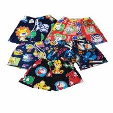Shorts Printing multi col size 3-4 yrs 5 pcs/pack
