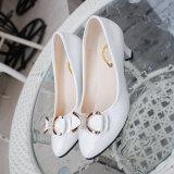 รองเท้าผู้หญิงสีทึบรองเท้าใหม่ที่มีปลายแหลมใน สิทธิบัตรหนังสีดำ Other ถูก ใน ฮ่องกง