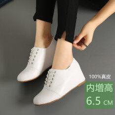 โปรโมชั่น หนังลูกไม้เพิ่มขึ้นภายในหญิงรองเท้าเกาหลี Shunv Xie สีขาว ฮ่องกง