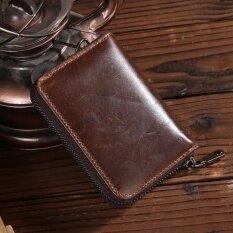 ราคา Siamcity Mall กระเป๋าใส่่บัตร ใส่เหรียญสตางค์ หนังแท้ 100 ทรงสั้น Wallet Brown ใหม่