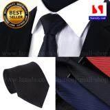ราคา Siamcity Mall เนคไท ผ้าอย่างดี หน้ากว้าง 3 นิ้ว 8 Cm สีดำ พื้นลายนูน Necktie 3 Inch Wide Black ใหม่ ถูก