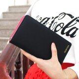 ราคา Siamcity Mall กระเป๋า กระเป๋าสตางค์ กระเป๋าตัง กระเป๋าเงิน กระเป๋าใส่เงิน กระเป๋าใส่บัตร หนังกันน้ำ สีดำ ทรงยาว มีซิป Wallet Black ใหม่