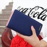 ซื้อ Siamcity Mall กระเป๋า กระเป๋าสตางค์ กระเป๋าตัง กระเป๋าเงิน กระเป๋าใส่เงิน กระเป๋าใส่บัตร หนังกันน้ำ สีน้ำเงิน ทรงยาว Wallet Blue ใหม่ล่าสุด