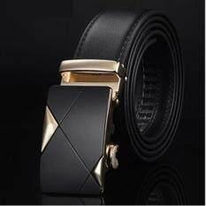 ขาย ซื้อ Siamcity Mall เข็มขัด หัวเข็มขัดแบบล๊อคอัตโนมัต เข็มขัดหนังแท้ เข็มขัดผู้ชาย เข็มขัดหนังแท้ผู้ชาย สีดำ Men S Genuine Leather Black Belt Thailand