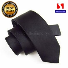 Siamcity Mall เนคไท ผ้าอย่างดี ทรงสลิม สีดำ Necktie Slim Black เป็นต้นฉบับ