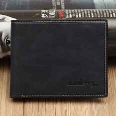 ซื้อ Simple Fashion Mens Leather Wallet Credit Id Card Holder Slim Coin Purse Pocket Dark Blue ออนไลน์