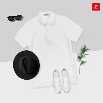 เสื้อโปโล Simply White (SWM01)