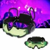 ราคา Sinlin แว่นตา Led มองกลางคืน แว่นตาปาร์ตี้ แว่นตาเล่นบีบีกัน แว่นตาสาย Edm Night Vision Goggles รุ่น Nvg201 Yd ถูก