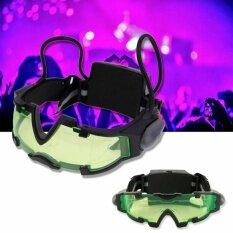 โปรโมชั่น Sinlin แว่นตา Led มองกลางคืน แว่นตาปาร์ตี้ แว่นตาเล่นบีบีกัน แว่นตาสาย Edm Night Vision Goggles รุ่น Nvg201 Yd ถูก