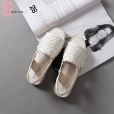 ราคา รองเท้าแตะรัดส้น Sister แบบสาน สีขาว ที่สุด