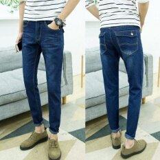 ราคา ขนาด 28 38 กางเกงยีนส์ผู้ชายแฟชั่นกางเกงดินสอกางเกงยีนส์กางเกงลำลองสีฟ้า นานาชาติ เป็นต้นฉบับ Unbranded Generic