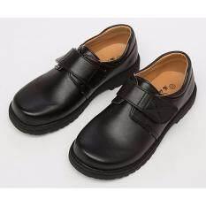 โปรโมชั่น พื้นเสริมนูนรองรับอุ้งเท้า รองเท้านักเรียนชายหนังนิ่มๆ คุณภาพดี ใช้เป็นรองเท้าออกงานก็ได้ Size 26 32 Cool Kids Shoes