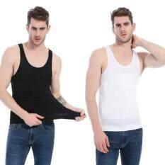โปรโมชั่น เสื้อยืดเก็บพุง สีขาว ดำSize M กระชับหุ่น เสื้อกล้าม สำหรับผู้ชาย พยุงท้อง เก็บพุง หุ่นดูดี เสื้อแขนกุด เสื้อคอกลม เสื้อสีขาวใส่สบาย P A Marketing