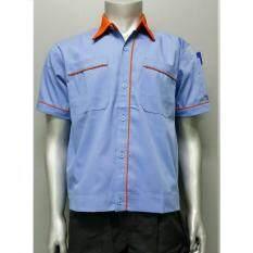 เสื้อช็อปโรงงาน ยูนิฟอร์มพนักงาน เสื้อช่างสําเร็จรูป Size Xl รอบอก 44 นิ้ว ใน กรุงเทพมหานคร
