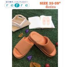 รองเท้าเพื่อสุขภาพ ใส่เดินในบ้าน พื้นหนา สีส้มอ่อน Size M 35 39 เป็นต้นฉบับ